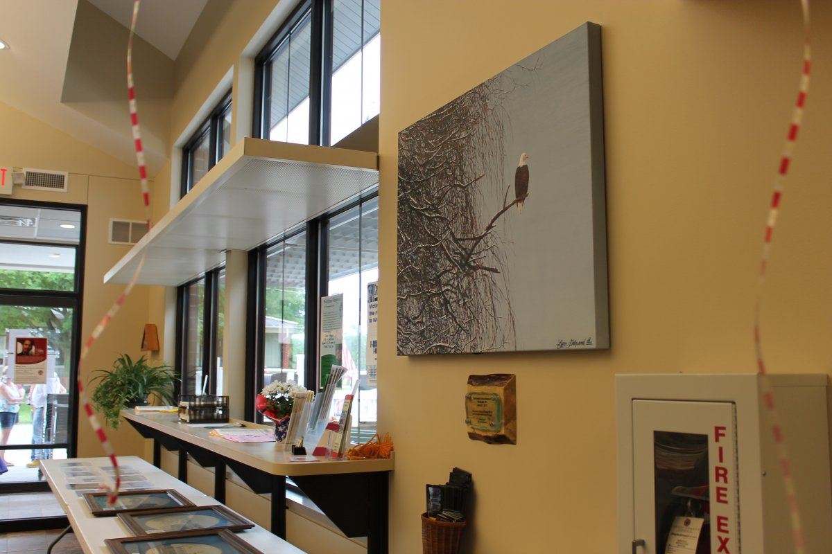 Art Installed in Rochester Village Hall Lobby – Final Installation